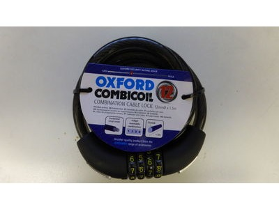 OXFORD CombiCoil Cable Lock. 12mm x 1.5m