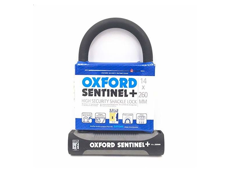 Oxford Sentinel Plus 14 x 260mm U-Lock click to zoom image