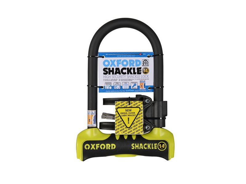 OXFORD Shackle 14 D-Lock 260 x 177mm - Yellow click to zoom image