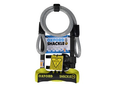 OXFORD Shackle 14 Duo D-Lock 320 x 177mm - Yellow
