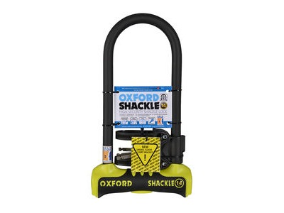 OXFORD Shackle 14 D-Lock 320 x 177mm - Yellow