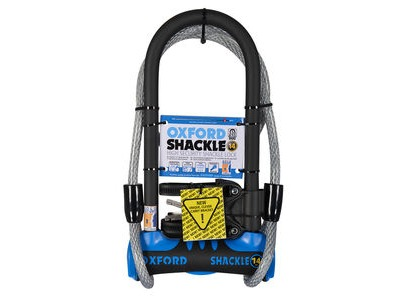 OXFORD Shackle 14 DUO D-Lock (320mm) Blue