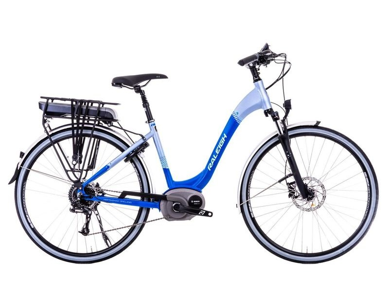 Raleigh Motus Low Step Blue Electric Bike click to zoom image