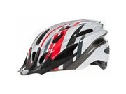 Raleigh Mission Helmet 54-58cm Red/ Silver  click to zoom image