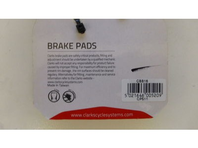 Clarks CBB16 V-Brake Pads for Hybrid/ MTB click to zoom image
