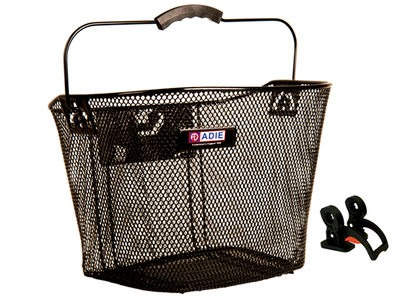 Adie Black Mesh Basket