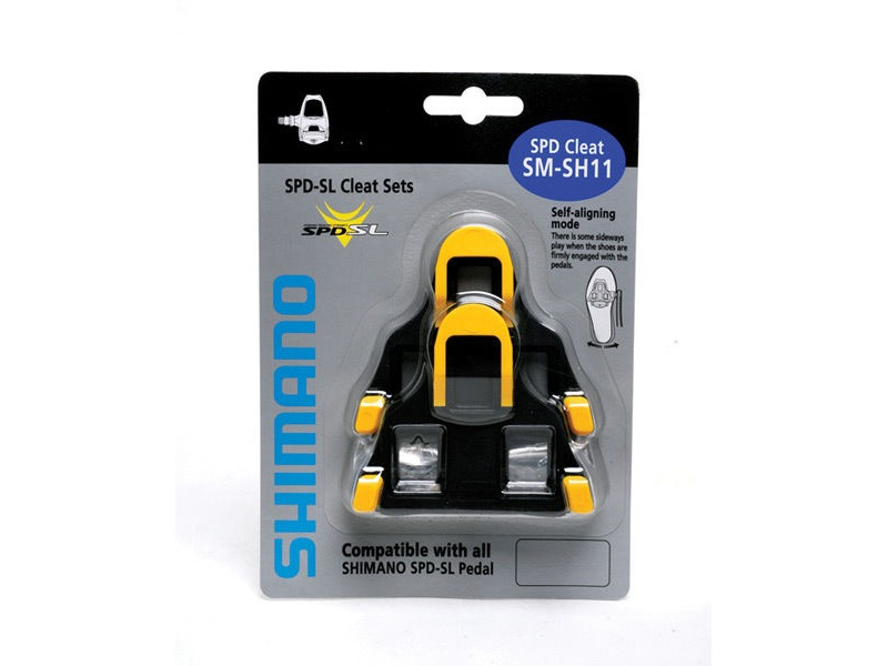 SHIMANO SM-SH11 SPD SL-cleats, centre pivot floating, yellow click to zoom image