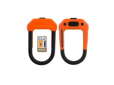 Hiplok DX D Lock 14mm X 15 X 8.5cm Hardened Steel (Gold Sold Secure) 14MM X 15 X 8.5CM ORANGE  click to zoom image