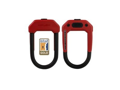 Hiplok DX D Lock 14mm X 15 X 8.5cm Hardened Steel (Gold Sold Secure) 14MM X 15 X 8.5CM RED  click to zoom image